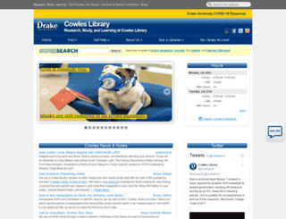 library2008.drake.edu screenshot