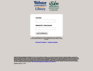 library3.webster.edu screenshot