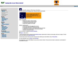 libraryelf.com screenshot