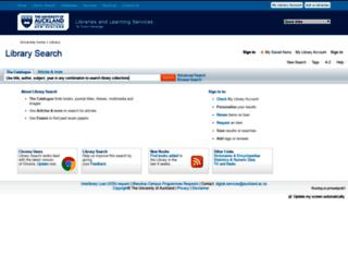 librarysearch.auckland.ac.nz screenshot