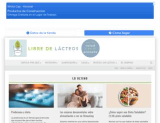 libredelacteos.com screenshot