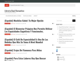 libreriabaulromantico.es screenshot