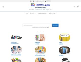 librerialuces.cl screenshot