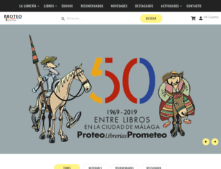 libreriaproteo.es screenshot