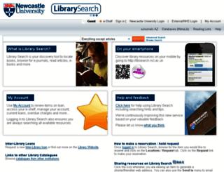 libsearch.ncl.ac.uk screenshot