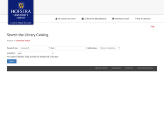 libweb.hofstra.edu screenshot