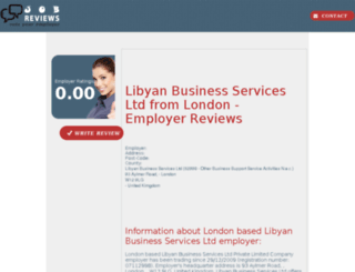 libyan-business-services-ltd.job-reviews.co.uk screenshot