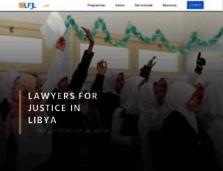 libyanjustice.org screenshot