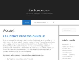 licences-pro.fr screenshot