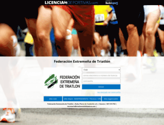 licencias.triatlonextremadura.com screenshot
