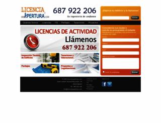 licenciayapertura.com screenshot
