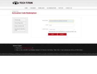 license.tech-titan.com screenshot