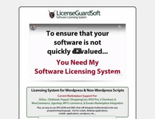 licenseguardsoft.com screenshot