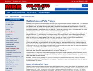 licenseplateframesdirect.com screenshot