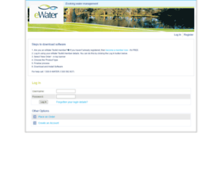 licensing.ewater.com.au screenshot