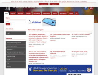 liceodesanctisroma.gov.it screenshot