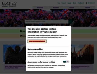 lichfielddc.gov.uk screenshot