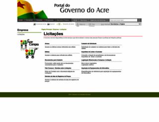licitacao.ac.gov.br screenshot