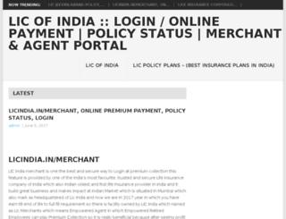 liconlinelogin.co.in screenshot