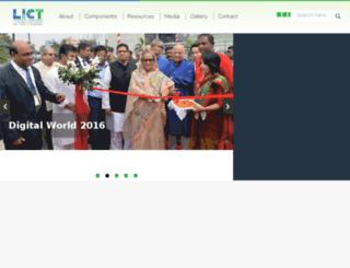 lict.gov.bd screenshot