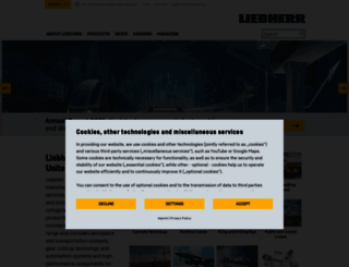 liebherr.com screenshot