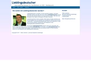 lieblingsdeutscher.de screenshot
