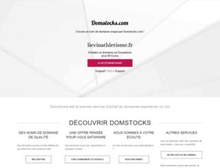 lievinathletisme.fr screenshot