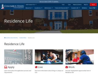 life.columbusstate.edu screenshot