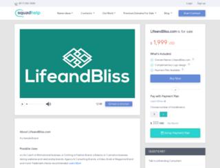 lifeandbliss.com screenshot