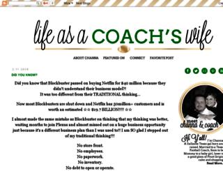 lifeasacoacheswife.blogspot.com screenshot