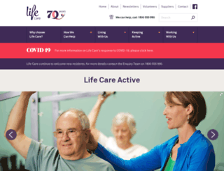 lifecareactive.org.au screenshot