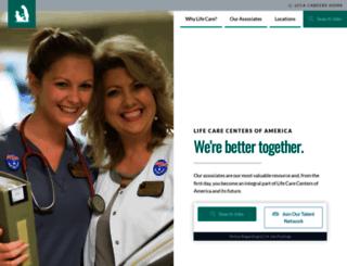 lifecarecareers.com screenshot