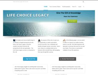 lifechoicelegacy.com screenshot