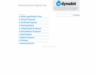 lifeexperience-degree.org screenshot