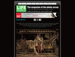 lifeforcemagazine.com screenshot