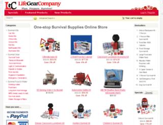 lifegearcompany.com screenshot