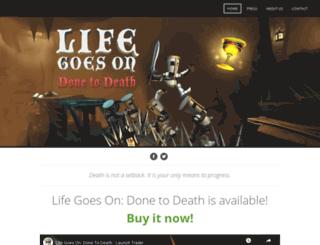 lifegoesongame.com screenshot