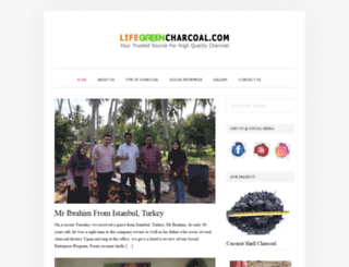 lifegreencharcoal.com screenshot