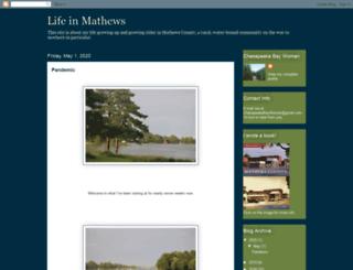 lifeinmathews.blogspot.com screenshot
