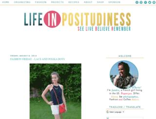 lifeinpositudiness.blogspot.com screenshot