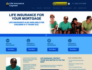 lifeinsurancecayman.com screenshot