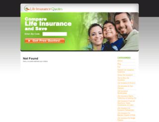 lifeinsurancequotes.org screenshot