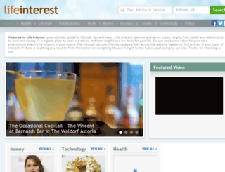 lifeinterest.com screenshot