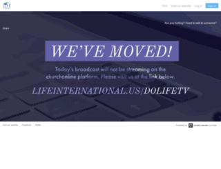 lifeinternational.churchonline.org screenshot