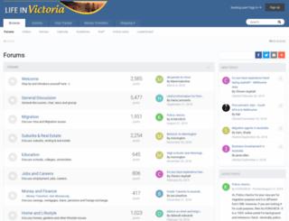 lifeinvictoria.com screenshot