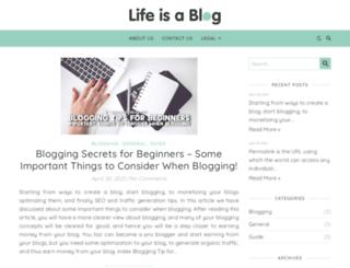 lifeisablog.com screenshot