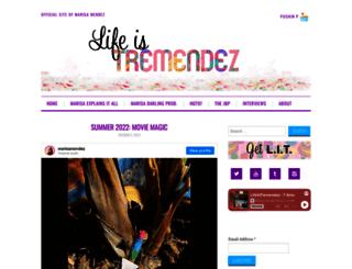 lifeistremendez.com screenshot