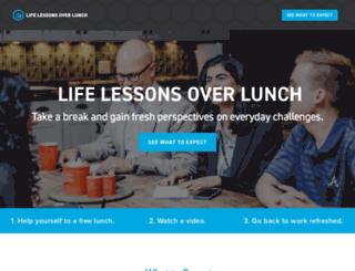 lifelessonsoverlunch.com screenshot