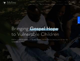 lifelinechild.org screenshot