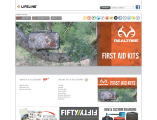 lifelinefirstaid.com screenshot